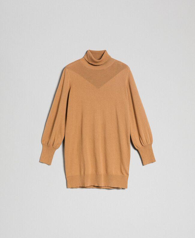 Maxi pull en laine et cachemire Beige «Séquoia» Femme 192ST3152-0S