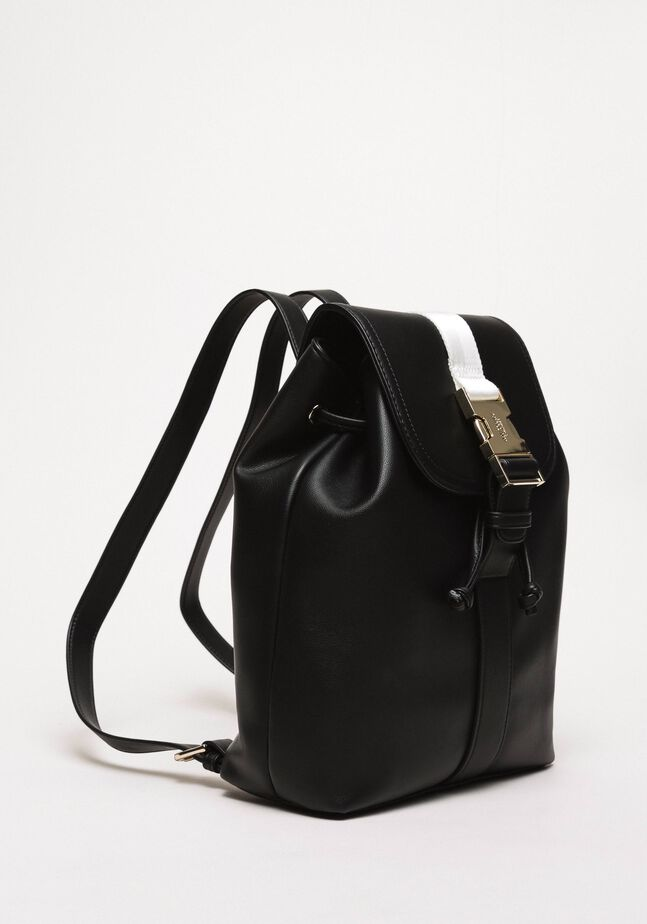 Rucksack aus Lederimitat mit Steckschließe