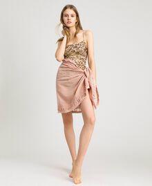 "Musselin-Schal aus Baumwolle ""Pink Bouquet"" Pink Frau 191LB4ZAA-0S"