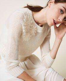Vestido lencero y jersey de mohair Blanco Nata Mujer 202TP3262-04