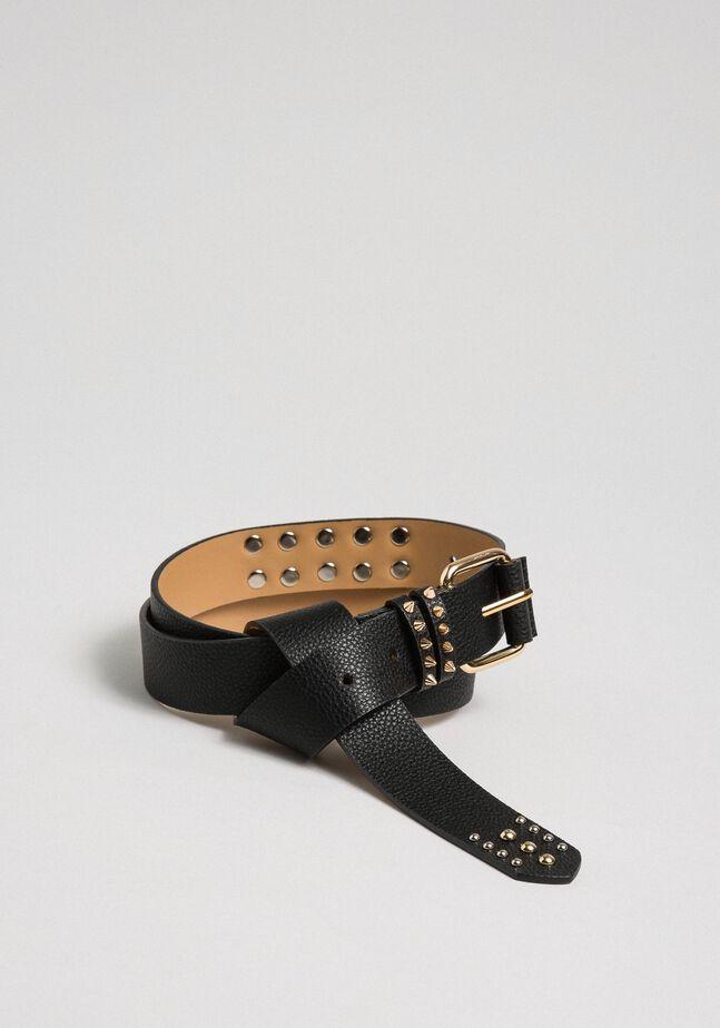 Studded leather belt, regular