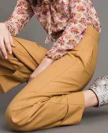 """Technical cotton trousers """"Mid Tan"""" Brown Woman 191TP2181-01"""