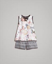 Blumenmuster-Oberteil und Shorts mit Spitzen-Aufdruck Motiv Ramage Schmetterling Kind 191GB2521-01