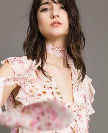 "Georgette-Bluse mit Blumenmuster Motiv ""Blossom / Peach Mix"" Pink Frau 191TP2711-04"