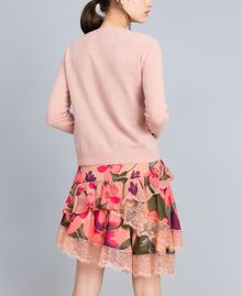 "Gonna in chiffon a stampe floreali Stampa Pink Tulipano ""Tea Garden"" Donna TA829A-03"