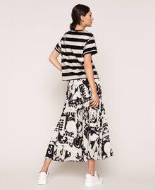Jupe-culotte en crêpe georgette imprimé Imprimé Liberty Blanc / Noir Femme 201ST213H-03