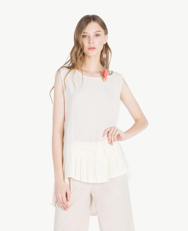 Silk top Mother Of Pearl Woman TS82DF-01