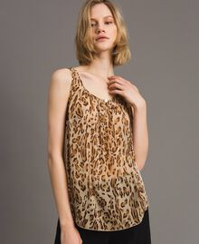"Animal print top ""Petra Sandstone"" Brown Animal Print Woman 191LM2UDD-04"