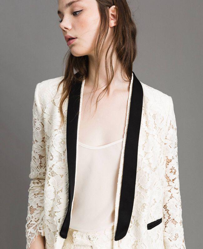 Macramé lace tuxedo jacket White Snow Woman 191TP2254-04