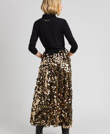 Midi skirt with sequins on tulle Sequin Embroidery Woman 192ST2213-03