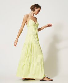 """Draco"" poplin dress with flounces ""Sunny"" Yellow Woman 211MT2265-02"