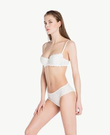 Broderie anglaise balconette bra (B cup) Ivory Woman LS8G33-02