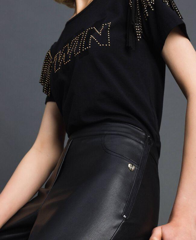 Legging en similicuir Noir Femme 192MP2025-03