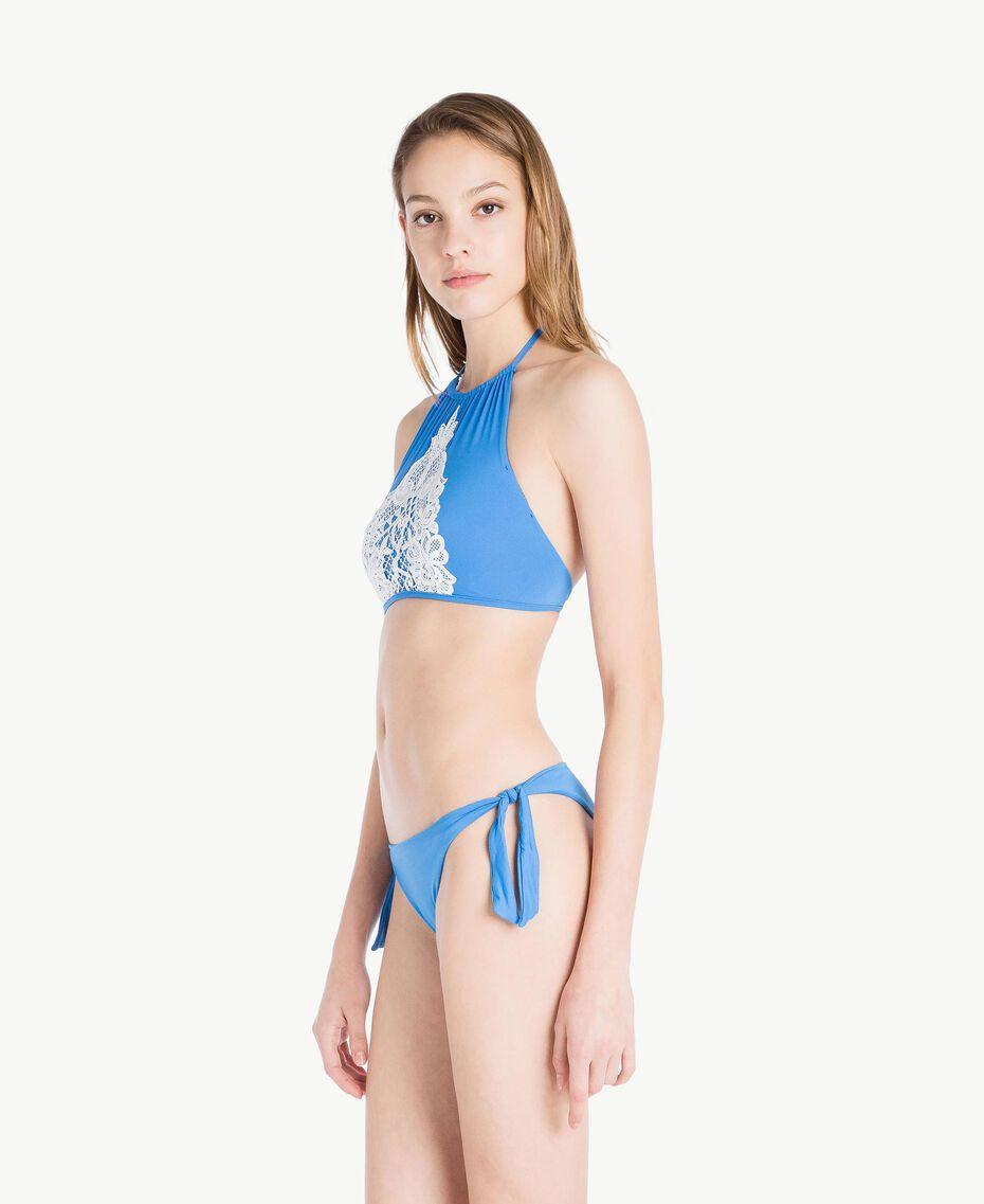 Tanga de bain uni Bleu «Lagon» Femme MS8L88-03