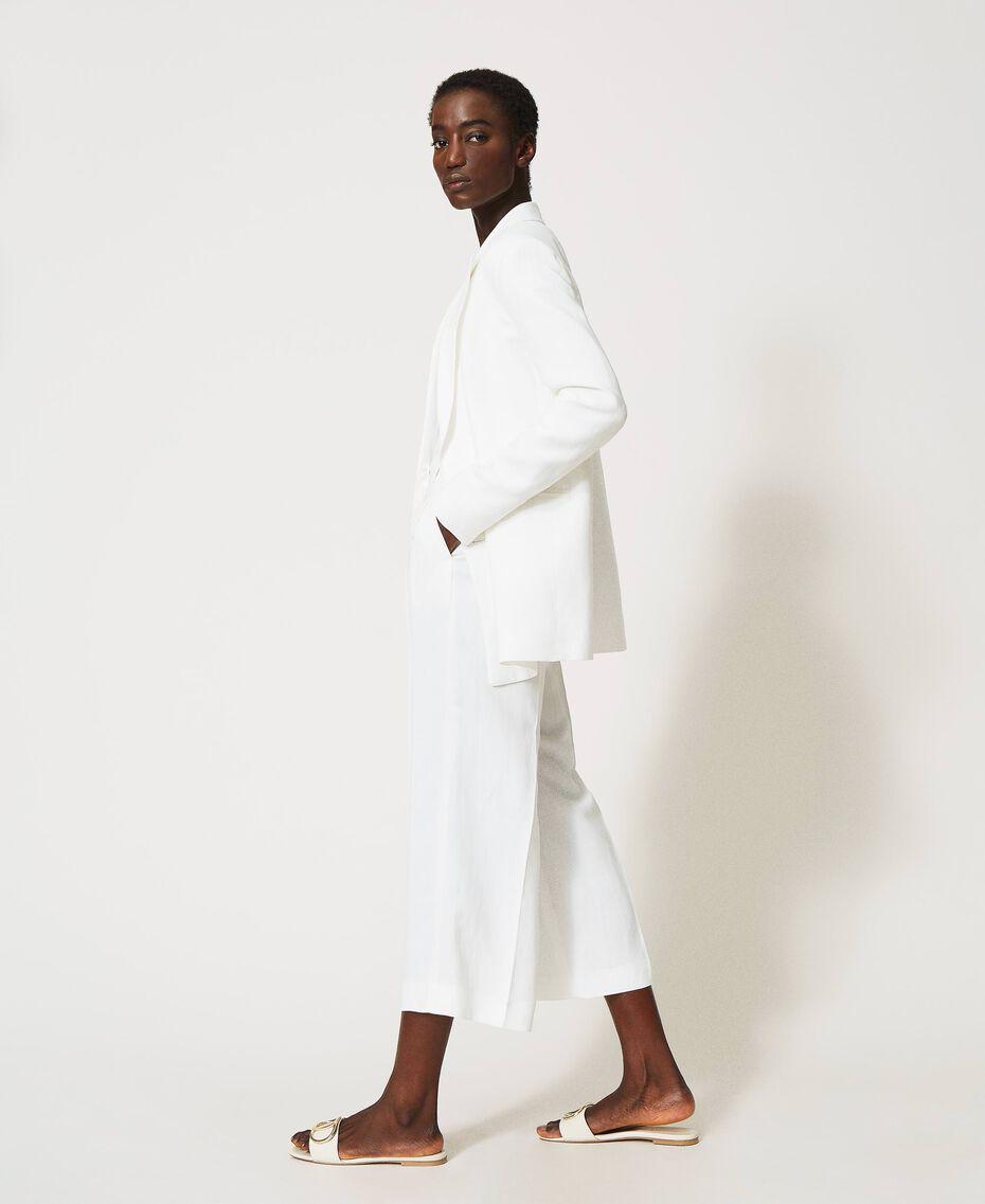 """Linen blend jacket """"Silk"""" White Woman 211TT2582-02"""