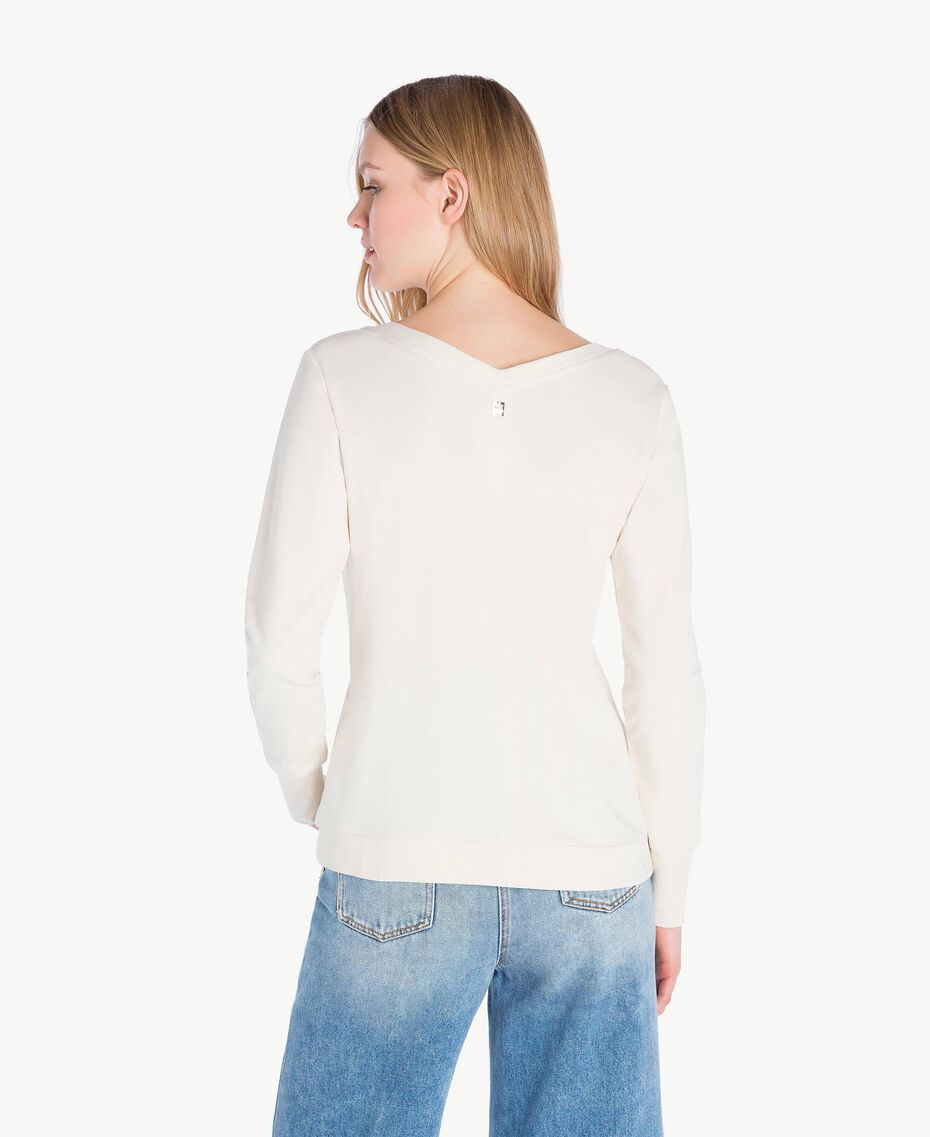 Sweat-shirt rose Blanc Parchemin Femme JS82H5-03