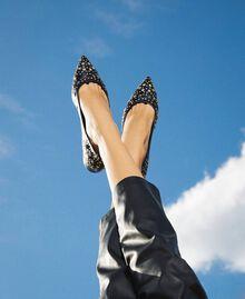 Кожаные балетки с заклепками Черный женщина 202TCP140-0S