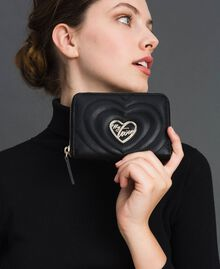 Small faux leather wallet Black Woman 192MA7088-0S