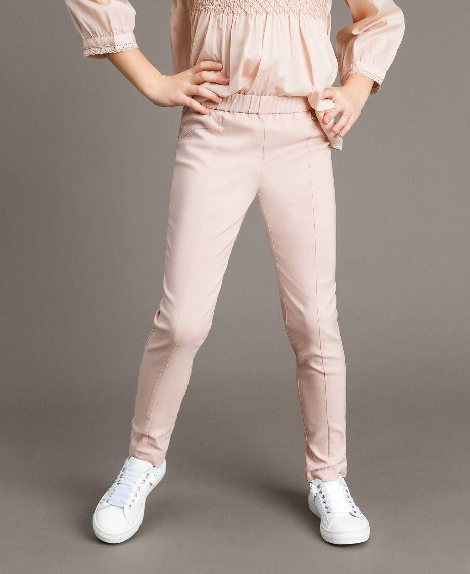 Pantalon skinny en coton Rose En fleur Enfant 191GJ2111-0S