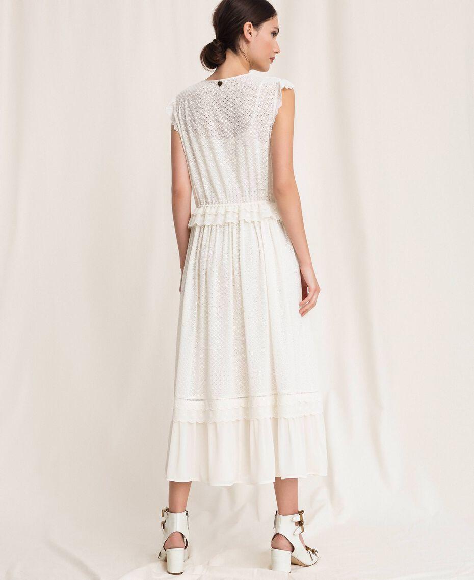 Длинное платье из сангалло Белый Снег женщина 201TP2497-03
