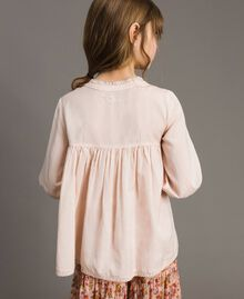 Cotton voile blouse with embroidery Blossom Pink Child 191GJ2350-03