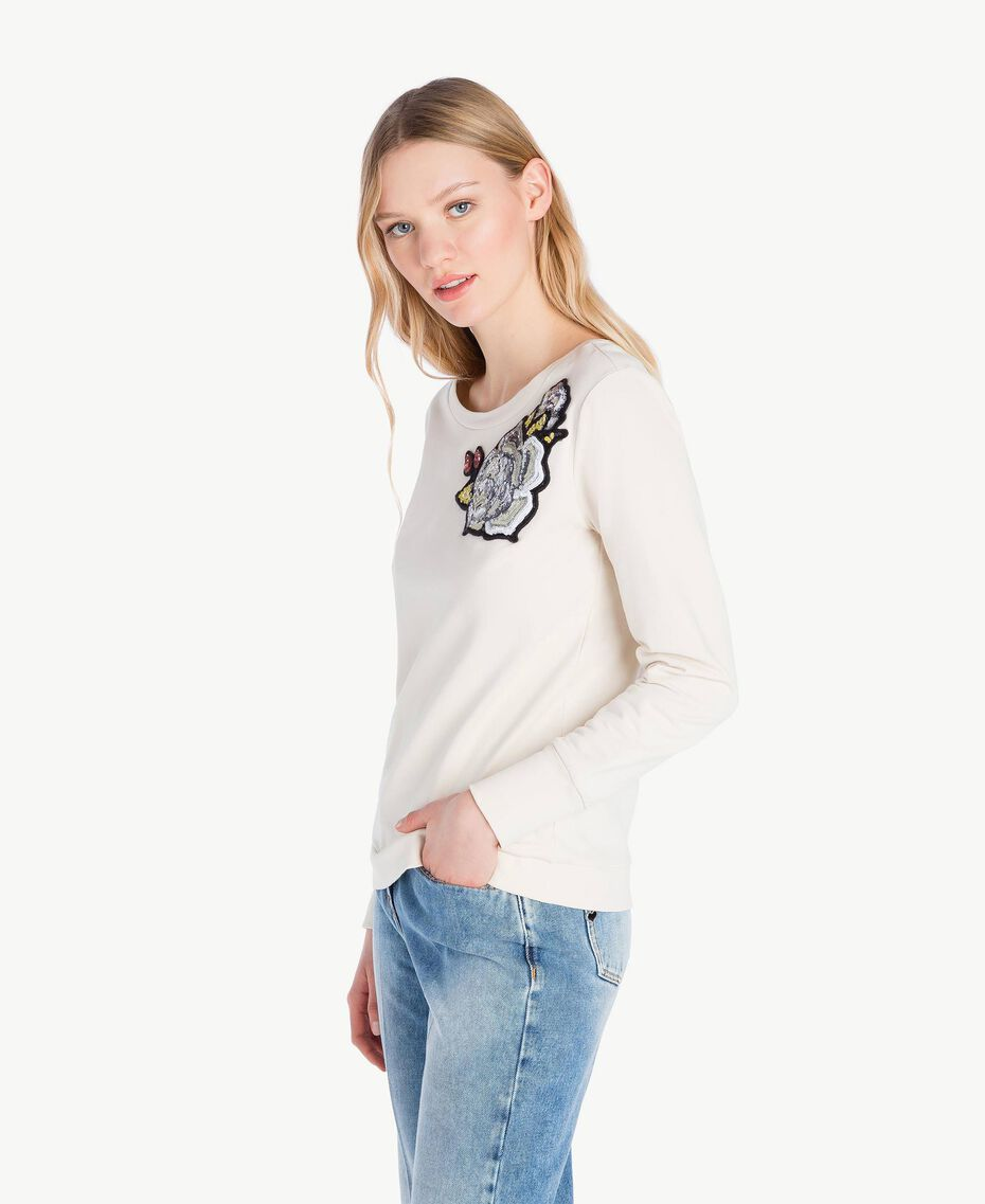 Sweat-shirt rose Blanc Parchemin Femme JS82H5-02