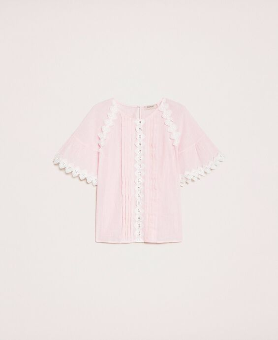 Creponne blouse with lace