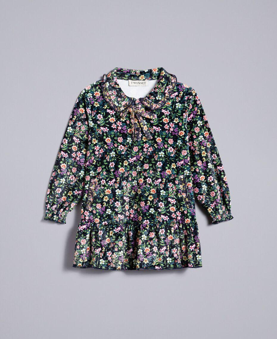 Платье с набивным цветочным рисунком Набивной Мелкий Цветок Pебенок FA82TB-01