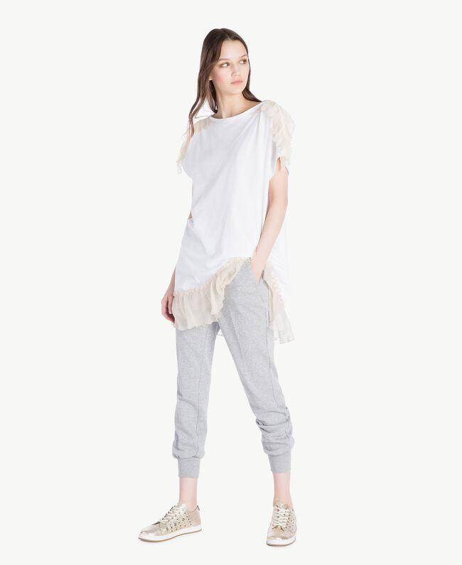 TWINSET Laminated sneakers Platinum Woman CS8PJE-05