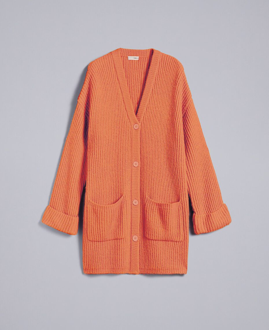 """Mohair blend cardigan """"Redwood"""" Red Woman SA83BC-0S"""