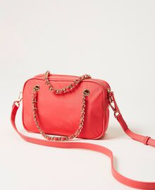 Technical satin shoulder bag Neon Pink Woman 211TD8100-03