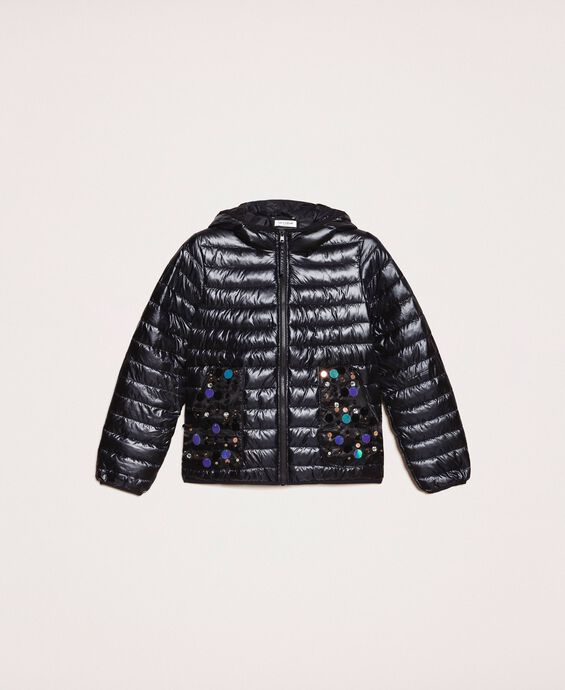 Ultralight puffer jacket with sequins