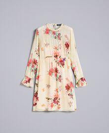 """Mini floral print georgette dress """"Tea Garden"""" Pink Print Woman PA8271-0S"""