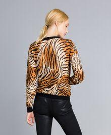 "Jacke aus Wolle mit Print Print ""Tiger"" Frau TA83DU-03"