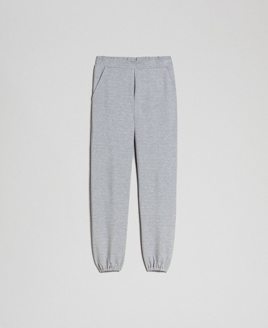Jogging trousers Melange Grey Woman 192LI2UEE-0S