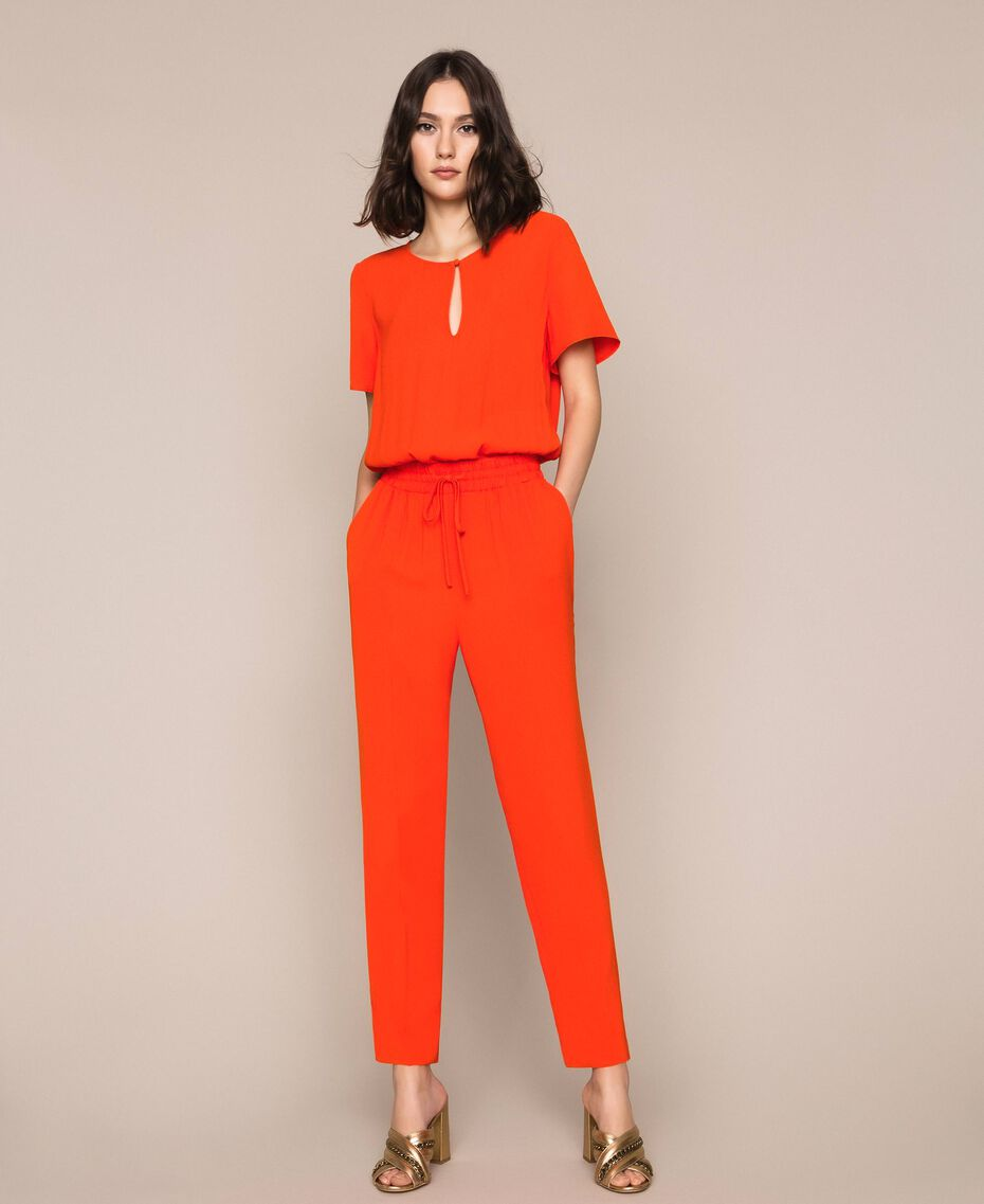 "Georgette jumpsuit ""Ace"" Orange Woman 201LL2NBB-02"