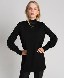Oversized wool and cashmere jumper Black Woman 192ST3152-02