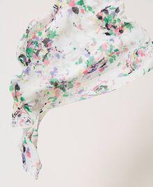 Étole avec imprimé Multicolore Blanc «Cassé Pois» Femme 211MO5364-02