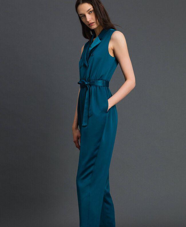 Combinaison croisée avec ceinture Bleu «Lake» Femme 192MP2350-03