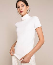 Turtleneck jumper with rhinestone buttons White Snow Woman 201TP3102-05