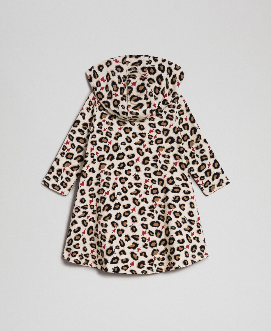 Animal print dress with hearts Leopard Print Child 192GB2330-0S