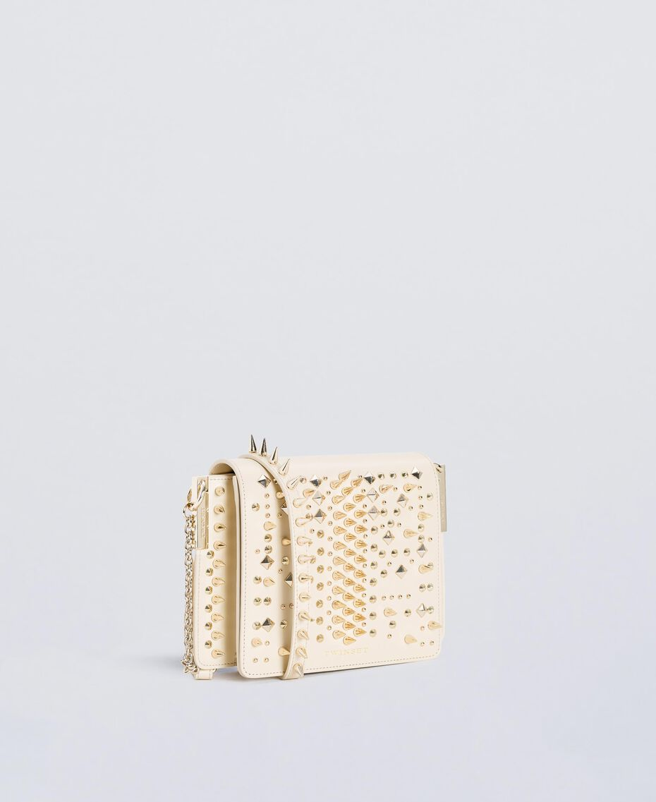 Studded satchel Ivory Woman OS8TLA-02