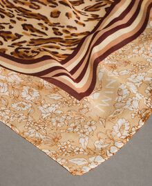 """Double pattern sarong """"Petra Sandstone"""" Brown Animal Print Woman 191LM4UBB-01"""