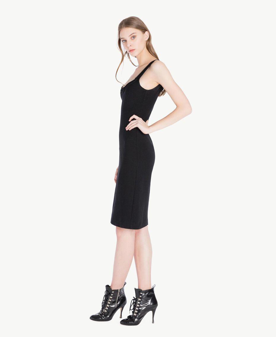Sheath dress Black Woman PS828C-02