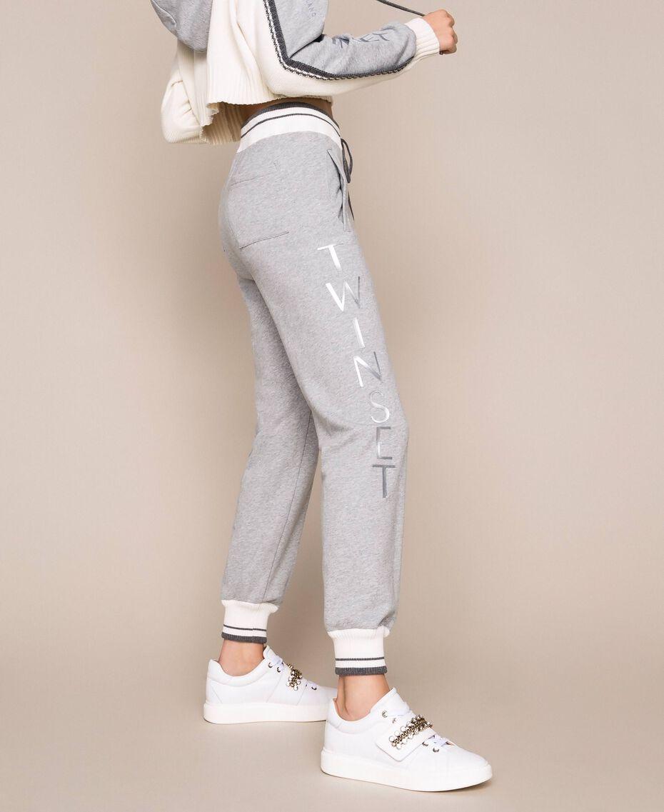 Sneakers aus Leder mit Chatons Weiß Frau 201TCP094-0S