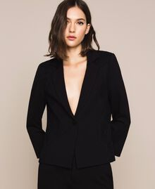 Blazer avec dentelle Noir Femme 201TP212B-01