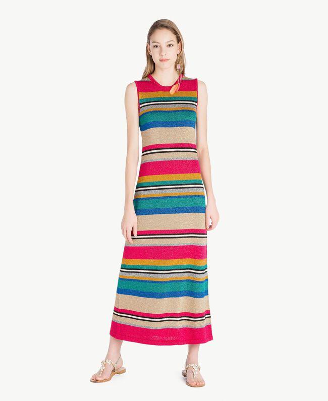 Lurex dress Multicolour Lurex Stripes Woman TS833N-01