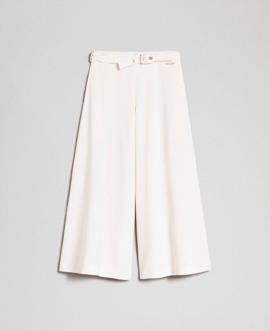 Pantalon palazzo avec ceinture Avoine Enfant 192GJ2451-0S