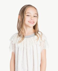 Lace dress Pale Cream Child GS82UQ-05