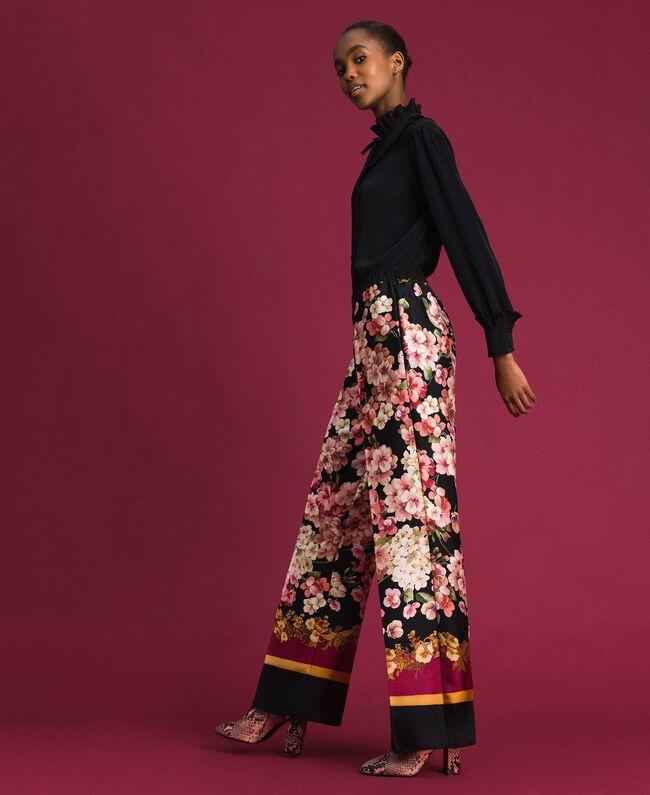 Pantalon palazzo avec imprimé foulard floral Imprimé Foulard Femme 192TP2605-01